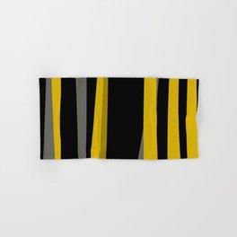yellow gray and black Hand & Bath Towel
