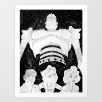 iron giant Art Prints featuring The Iron Giant by TheGiz