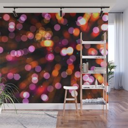 Fireworks Pink (Color) Wall Mural