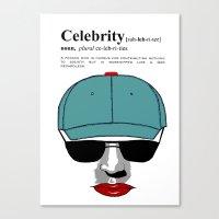 celebrity Canvas Prints featuring Celebrity by jt7art&design