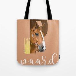 Paard - dierenalfabet Tote Bag