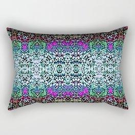 Lavender and Teal Rectangular Pillow