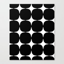Retro '50s Shapes in Black and White Canvas Print