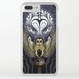 Owl Deck: Ace of Hearts Clear iPhone Case
