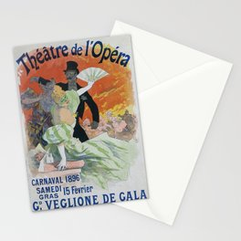 Carnaval, 1896 French Vintage Opera Poster Jules Cheret Stationery Cards