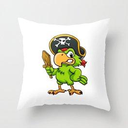 Pirate Parrot Throw Pillow