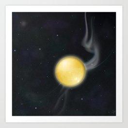 Golden Planet Art Print
