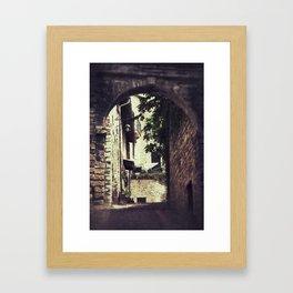 Ancient Alley Framed Art Print