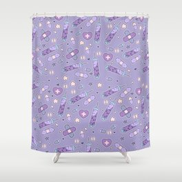 Menhera Needles on Purple Shower Curtain