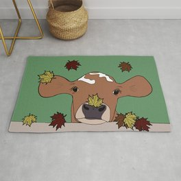 Bessie the Calf and Fall Leaves Rug