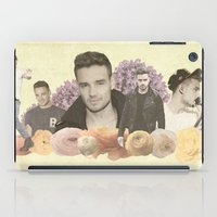 liam payne iPad Cases featuring Liam Payne + Flowers by Ladsandstuff