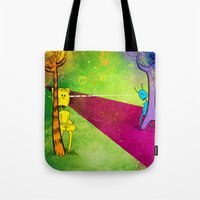 lovers Tote Bags featuring Lovers by KadetKat