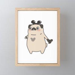 Theme Park Survival Pug Framed Mini Art Print