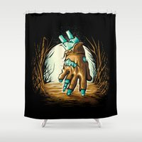 return Shower Curtains featuring The Return! by Locust Years