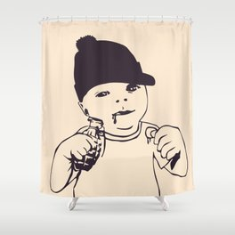 Baby bomb Shower Curtain