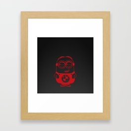 Carbon minion red Framed Art Print