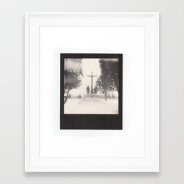 frozen cemetery... Framed Art Print