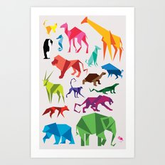 Paper Animals Art Print