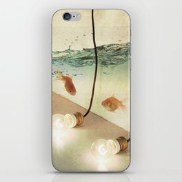 ideas and goldfish iPhone Skin