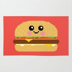 Happy Pixel Hamburger Rug