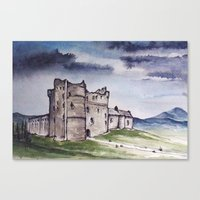 outlander Canvas Prints featuring Doune Castle, Perthshire, Scotland. Outlander. Monty Python. Version 1 (No text title) by JVB 2014