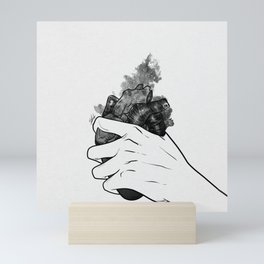Hold on your heart. Mini Art Print