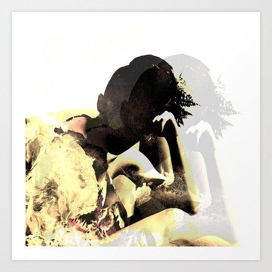 shadow girl Art Print