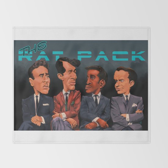 The Rat Pack Throw Blanket