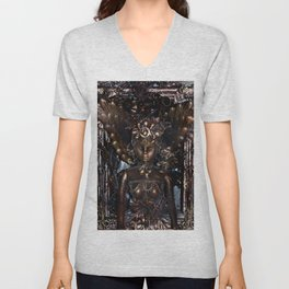She Rises From Abuse by Kathy Morton Stanion Unisex V-Neck