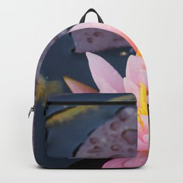 Pink water lily flower Backpack
