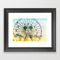 mickey wheel _ disneyland Framed Art Print