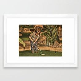 Golfer George Framed Art Print