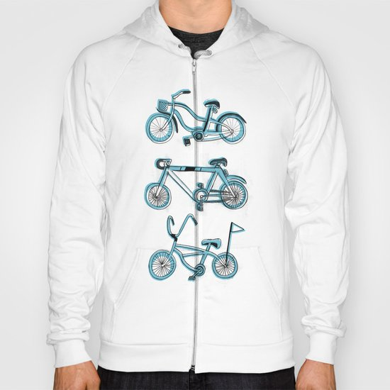 Gonna ride my bike 'til I get home(blue) Hoody