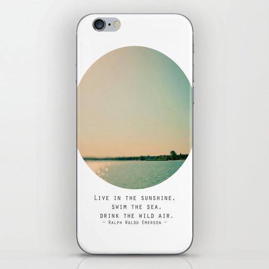 Swim The Sea iPhone & iPod Skin