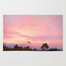 Rose Quartz and Serenity Landscape Rug