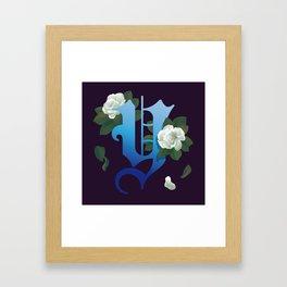 Letter 'Y' is for Yulan Framed Art Print