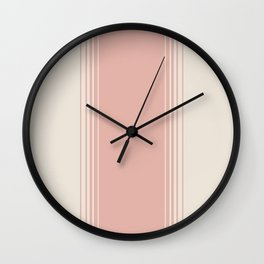 Pink Clay Vertical Gradient Wall Clock