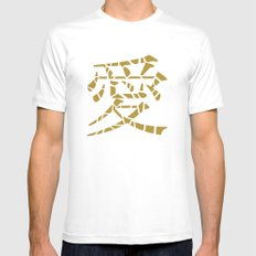 Love (gold) Mens Fitted Tee White MEDIUM