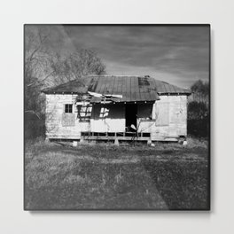 Abandoned House, Greenwood, Mississippi (Black & White) Metal Print