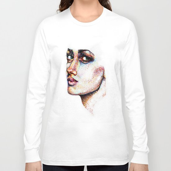 Portrait Pointed Out Long Sleeve T-shirt