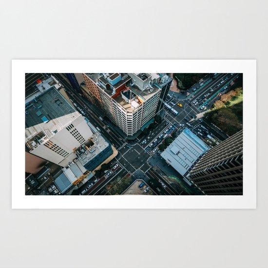 New York City Skyscaper View Art Print