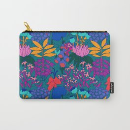 Psychedelic Jungle Garden in Pond Teal Carry-All Pouch