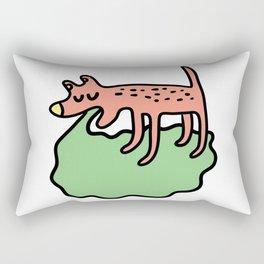 Vomiting dog Rectangular Pillow