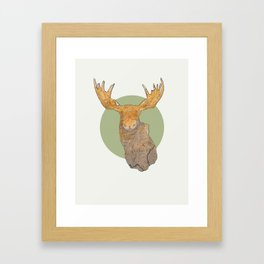 Canadian Moose Framed Art Print