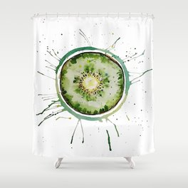 Contemporary Kiwi Shower Curtain