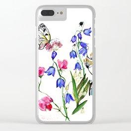 Wild Flowers Field Clear iPhone Case