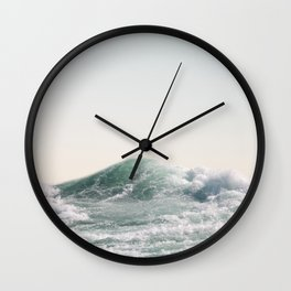 Waves and Sunrise Happy Summer Photography Ocean Beach Vibes Tropical Water Sea Wall Clock