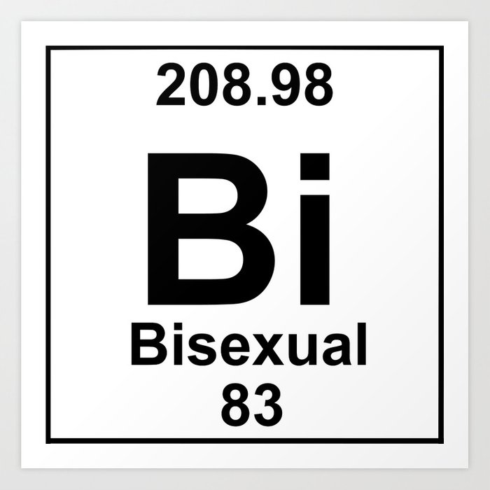 Periodic Table Bi Sexual Art Print By Brightestwitch