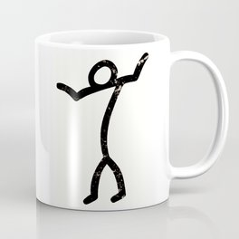 "Stick-man ""I Dunno."" by Area 39 Art Coffee Mug"