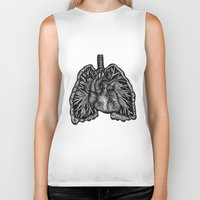 lungs Biker Tanks featuring LUNGS by Fanny Andy